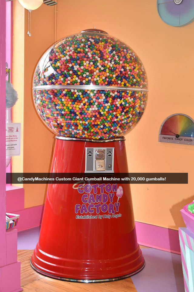 Custom Logo Giant Gumball Machine