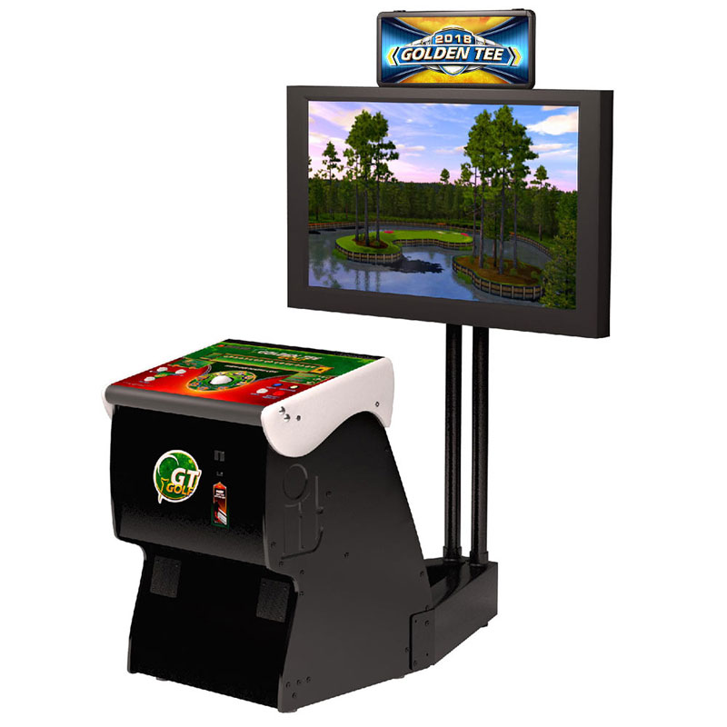 Golden Tee Golf Home Arcade Game with Monitor Stand