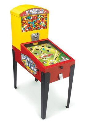 Gumball Pinball Machine w/ Legs