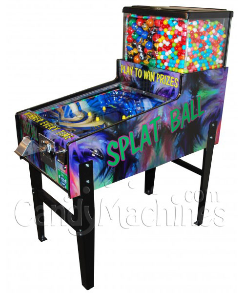 Splat Ball Pinball Toy and Gumball Machine