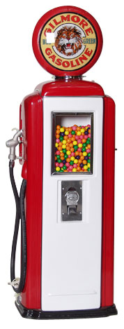 Tokheim 39 Gilmore Gasoline Gas Pump Gumball Machines