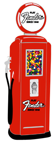 Tokheim 39 Red Fender Gas Pump Gumball Machines