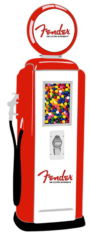 Tokheim 39 Red and White Fender Gas Pump Gumball Machines