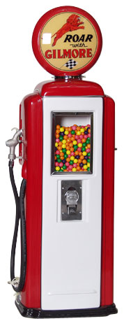 Tokheim 39 Roar with Gilmore Gas Pump Gumball Machines
