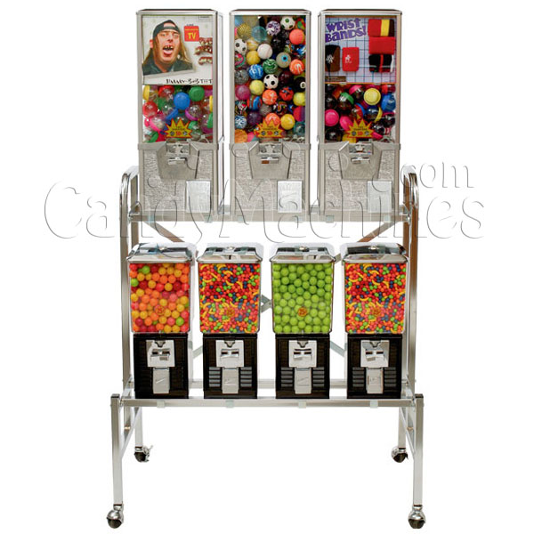 Northwestern 7 Unit Toy and Gumball Vending Machine Combo II