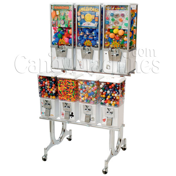 Northwestern 7 Unit Toy and Gumball Vending Machine Combo