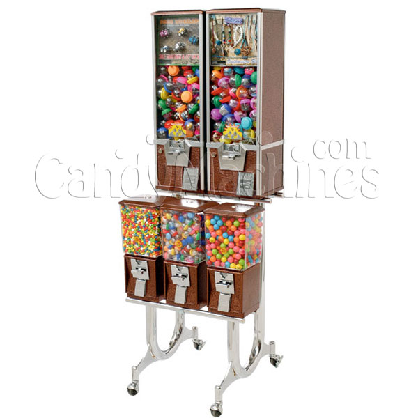 Northwestern 5 Unit Toy and Gumball Vending Machine Combo