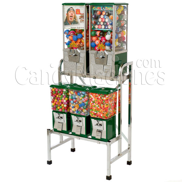Northwestern 5 Unit Toy and Gumball Vending Machine Combo III