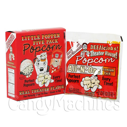 4 Oz. All-N-One Premium Tri-Pak Portion Great Northern Popcorn - 5 Pack