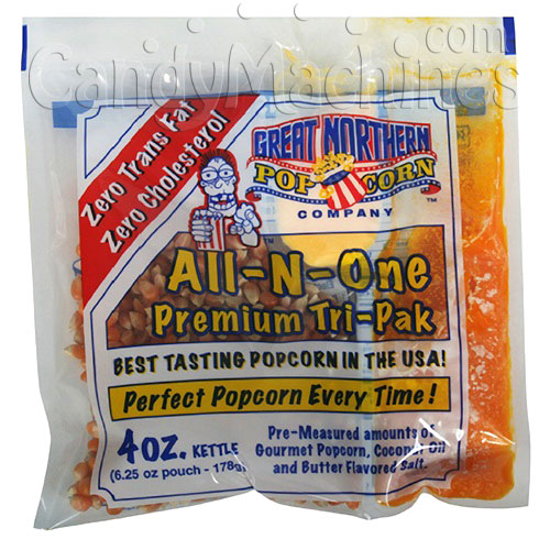 All-N-One Premium 4 Oz. Tri-pak Portion Great Northern Popcorn