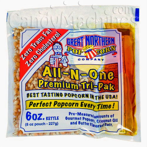 All-N-One Premium 6 Oz. Tri-pak Portion Great Northern Popcorn
