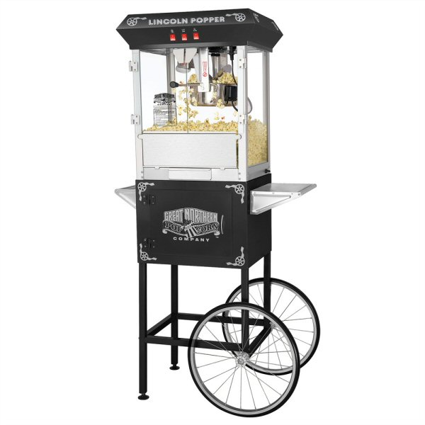 Lincoln Antique Popcorn Machine - 8 oz. with Cart
