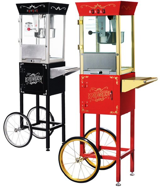 Movie Matinee Popcorn Machine - 8 oz. with Cart