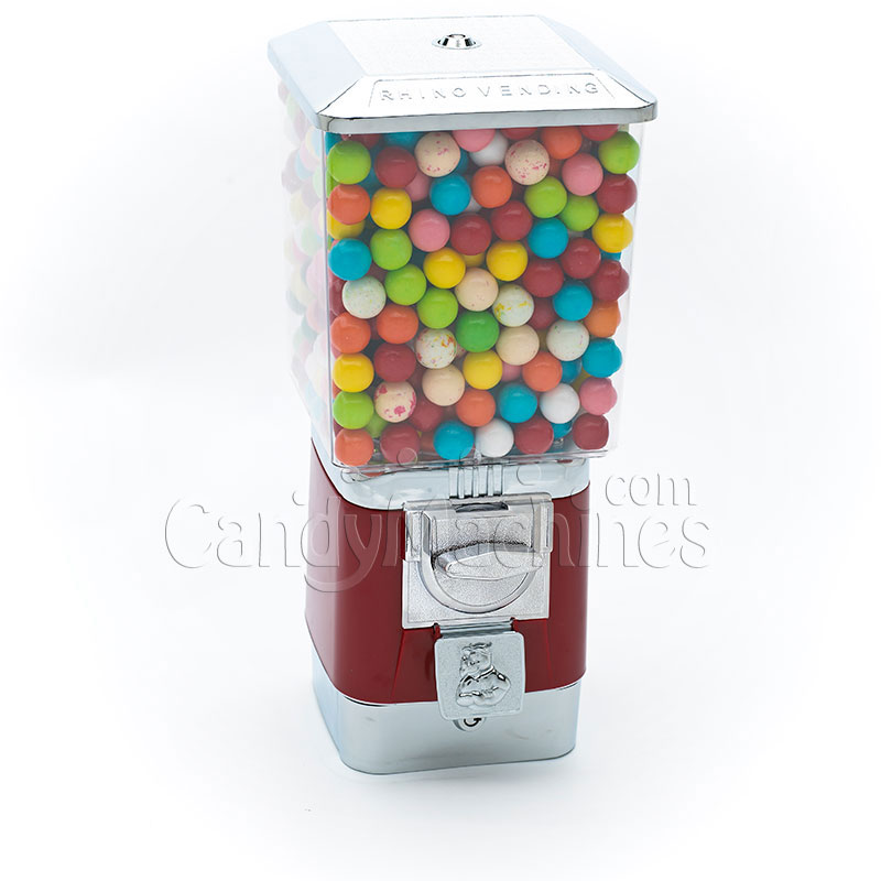 Rhino Pro Metal Red Gumball Bulk Vending Machine