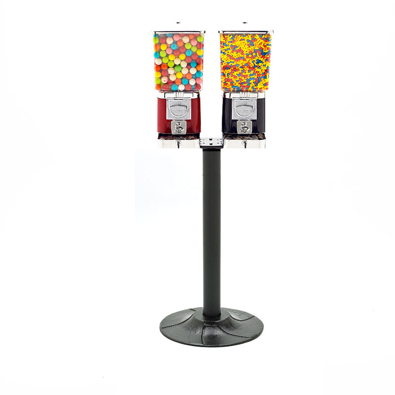 Rhino Pro Metal Two Head Bulk Vending Machines with Stand