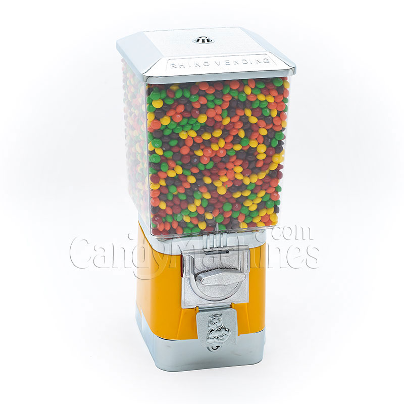 Rhino Pro Metal Yellow Candy Bulk Vending Machine