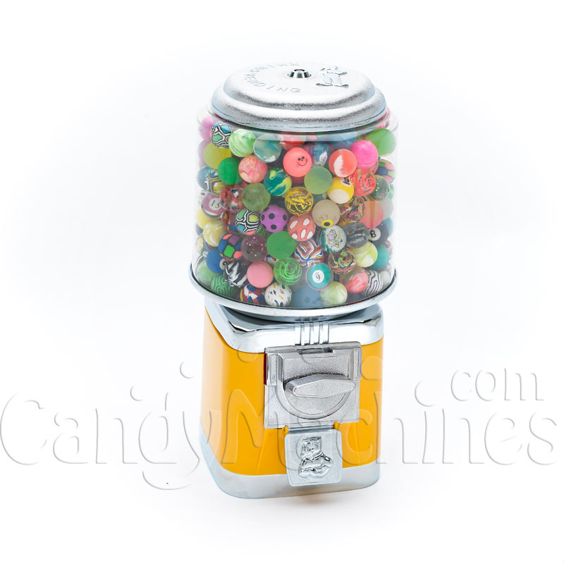 Rhino Classic Yellow Metal Bulk Bouncy Ball Vending Machine