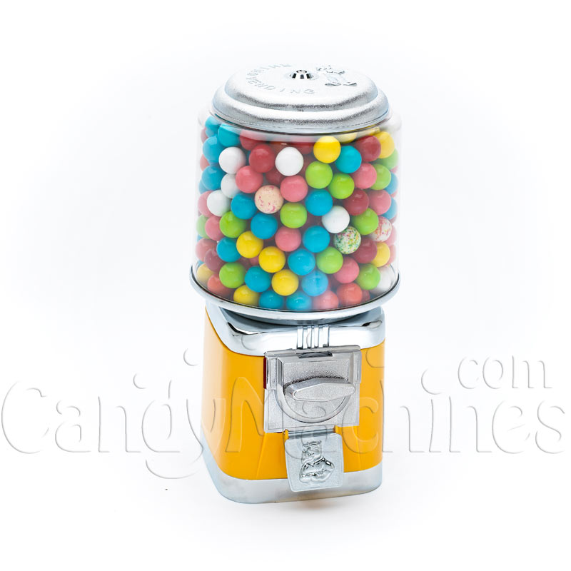 Rhino Classic Yellow Metal Bulk Gumball Vending Machine