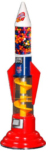 Spiral Rocket Gumball Machine