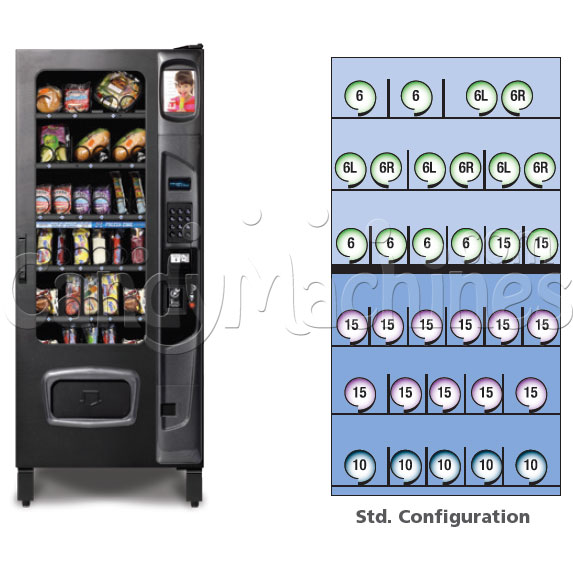 Multi-zone Food Vending Machine (28 Selections) Configurations
