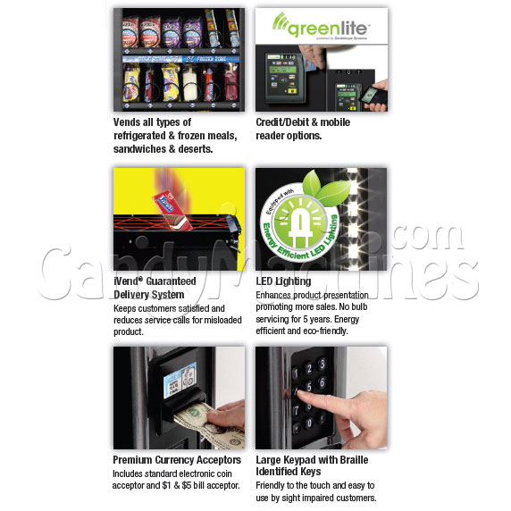Multi-zone Food Vending Machine (28 Selections) Options