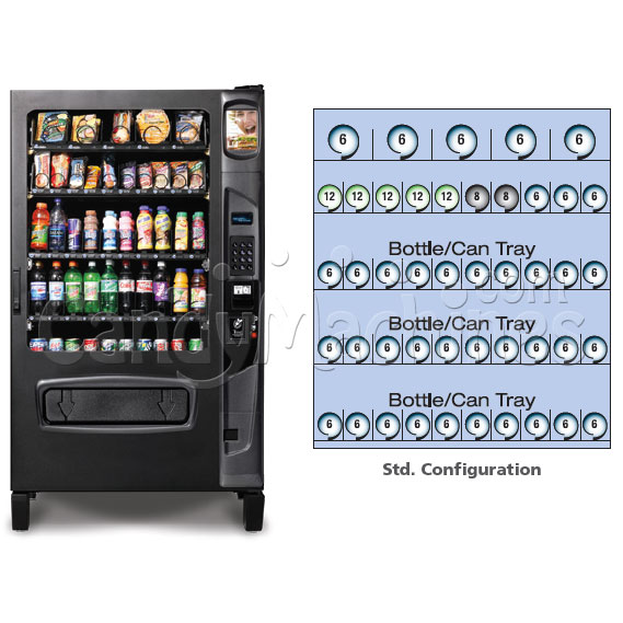 Refrigerated Snack and Soda Vending Machine (45 Selections) Configurations