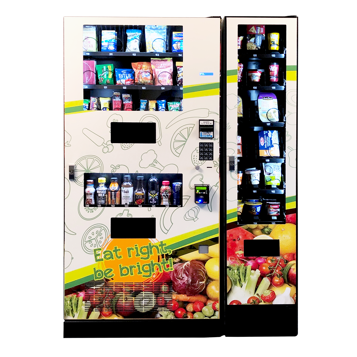 Seaga Healthy Combo Snack and Drink Vending Machine with Entree