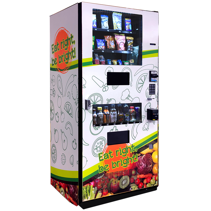 Seaga Healthy Combo Snack and Drink Vending Machine Left Side