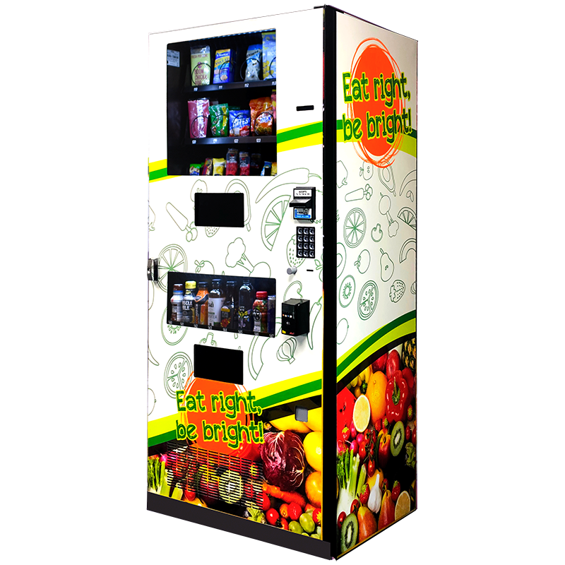 Seaga Healthy Combo Snack and Drink Vending Machine Right Side