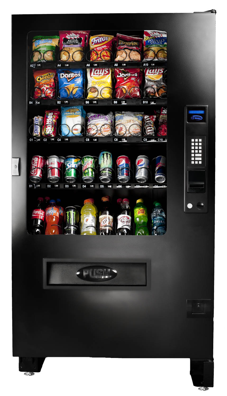 Seaga Infinity INF5C Snack and Soda Vending Machine
