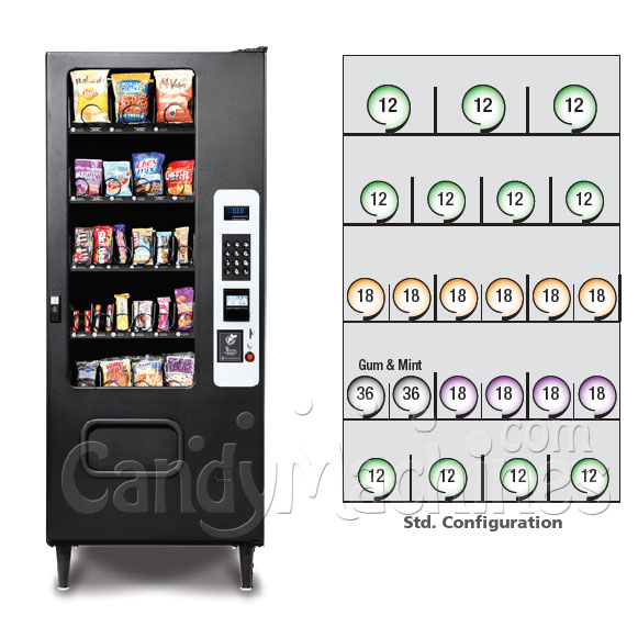 Snack Vending Machine 23 Selection Configuration