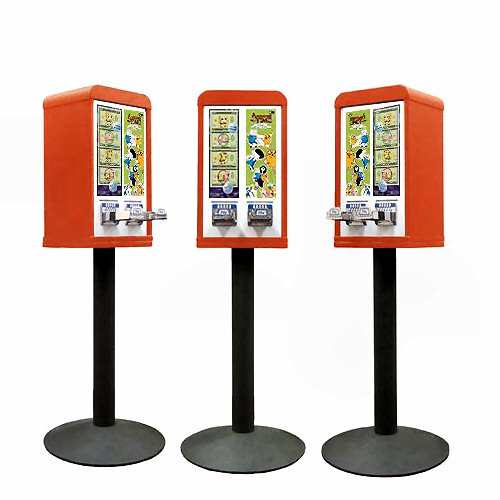 Tattoo and Sticker Vending Machines - 2 Column - Red