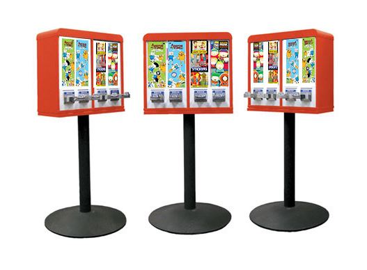 Tattoo and Sticker Vending Machines - 4 Column - Red