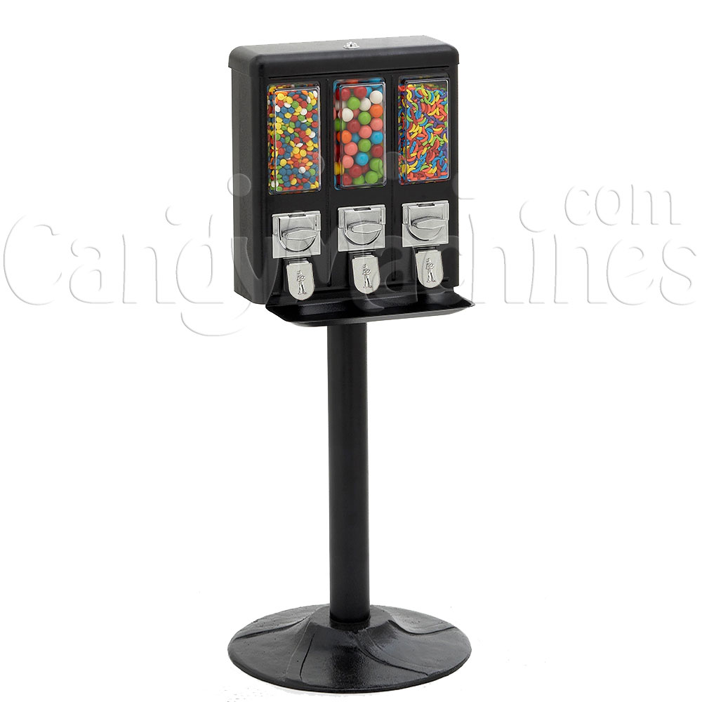 Black Triple Gumball Machine