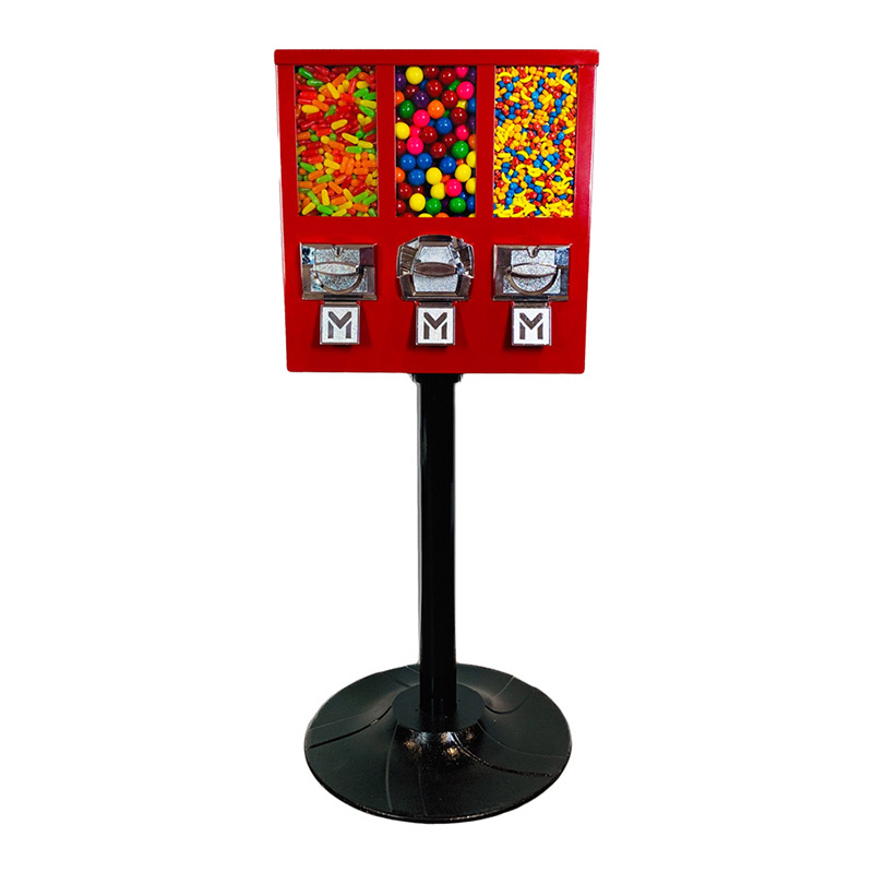 Triple Shop Gumball and Candy Vending Machine
