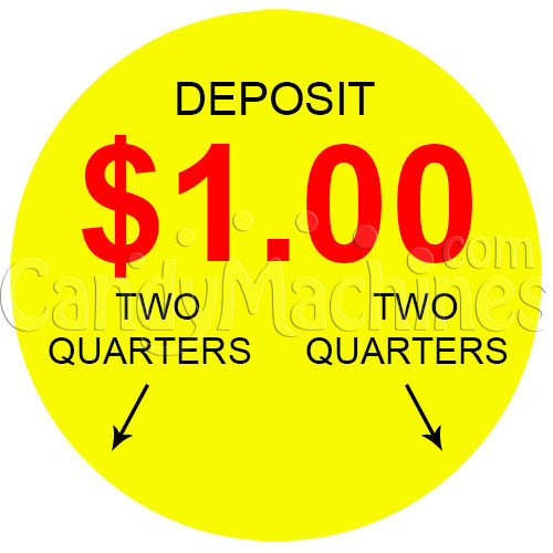 $1.00 Vending Machine Decal (Outside)