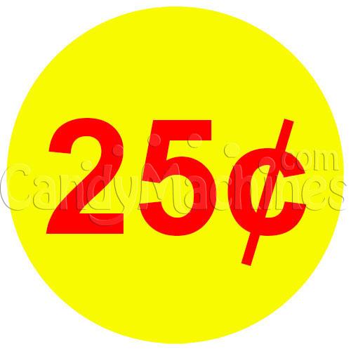 Buy Warning Vending Machine Decal Outside: Buy 25 Cent Coin Vending Machine Decal (Outside)