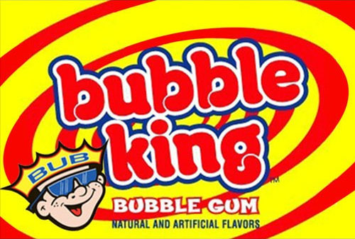 Bubble King Gumballs Vending Machine Label
