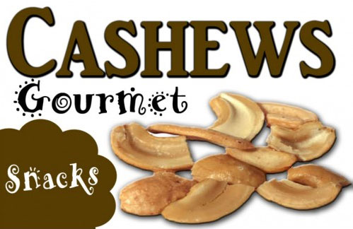 Cashews Vending Machine Label