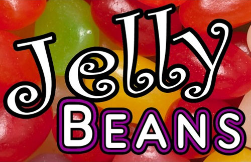 Jelly Beans Vending Machine Label