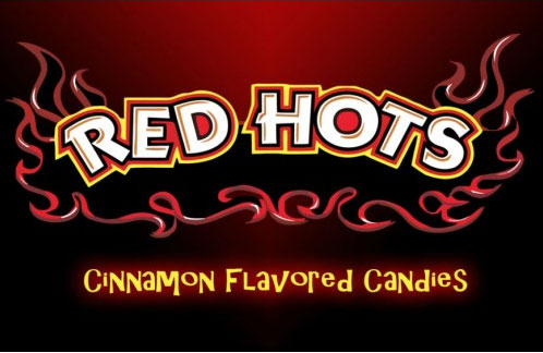 Red Hots Vending Machine Label