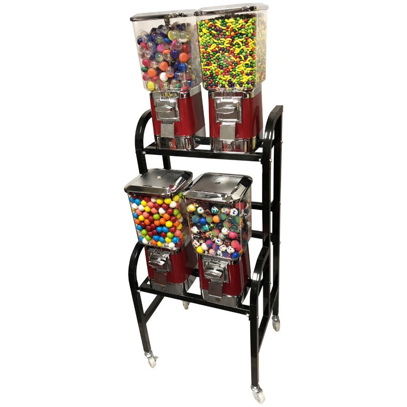 ProVend 4 Unit Candy and Gumball Bulk Vending Rack