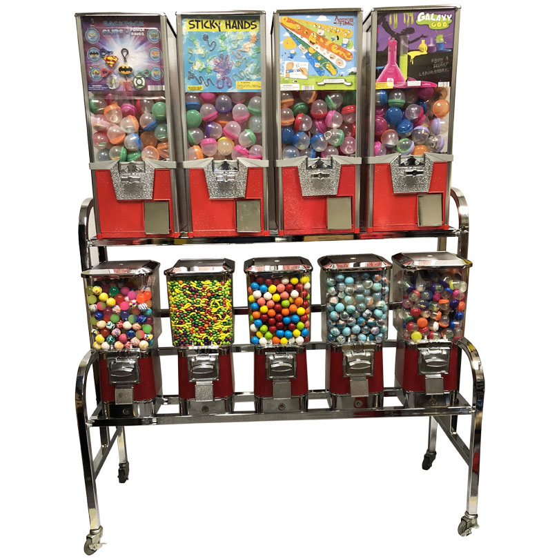 ProVend 9 Unit Toy Vending Bulk Vending Rack