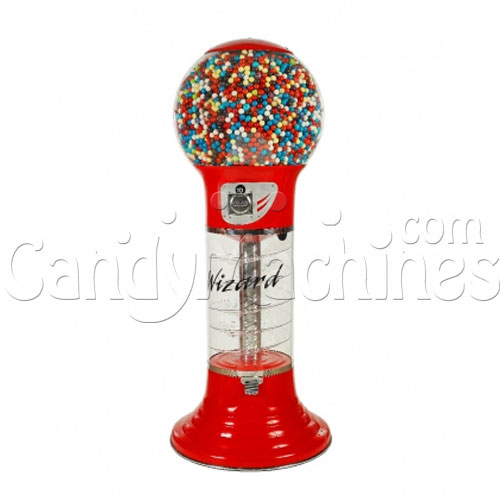 "5' 6"" Giant Wizard Spiral Gumball Machine - Red"