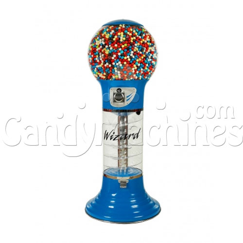 "5' 6"" Giant Wizard Spiral Gumball Machine - Blue"