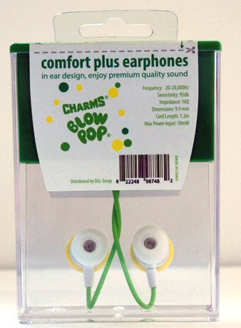 Sour Apple Blow Pop Earbuds Back