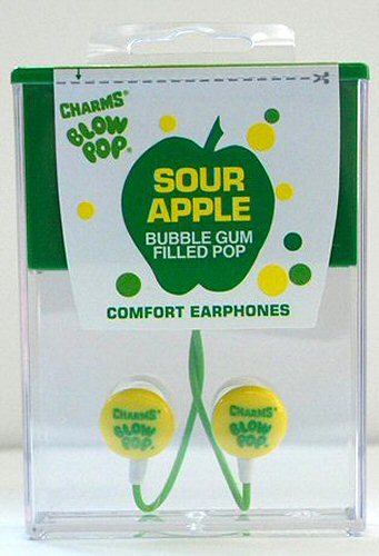 Sour Apple Blow Pop Earbuds