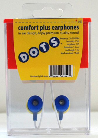 DOTS Candy Earbuds Back