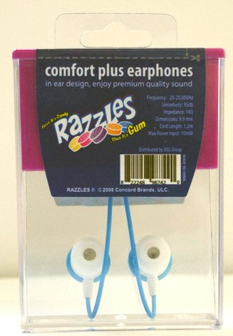 Razzles Candy Earbuds Back