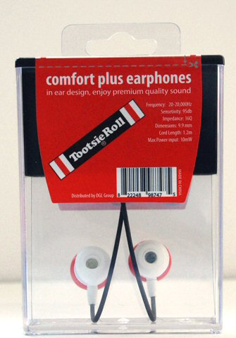 Tootsie Roll Earbuds Back